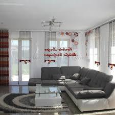 Wohnzimmer Gardinen Modern Gemütliche Innenarchitektur Wohnzimmer Gardinen Weiß Grau
