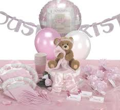 teddy bear christening centerpiece baptism party supplies for
