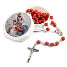five decade rosaries carmelite petal rosary
