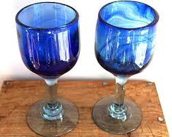 cobalt blue home decor blue glass decor etsy