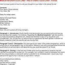 Medical Interpreter Resume Sample by Parts Interpreter Cover Letter Sample