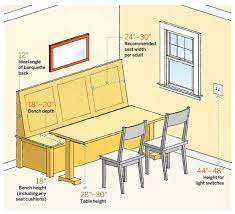 Built In Bench Seat Dimensions 64 Important Numbers Every Homeowner Should Know Time To Build
