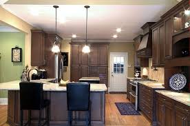 Range In Kitchen Island by Exterior Black Kitchen Chairs With Wood Kitchen Island And Soffit