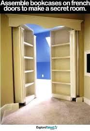Hideaway Closet Doors Bookcase Closet Doors Large Size Of Bookcase Closet Rolling