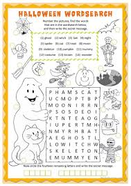 printable halloween activity with sign language the best of