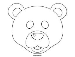 printable polar bear mask color preschool winter