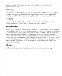 Tax Accountant Resume Sample by Professional Tax Assistant Templates To Showcase Your Talent