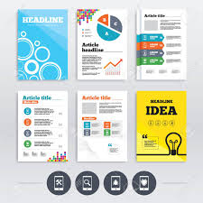 brochure design software brochure design and a4 flyers smartphone icons shield protection