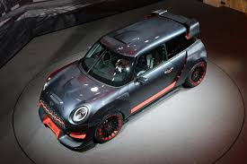 the mini jcw gp concept and mini electric concepts live at