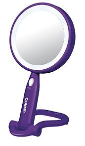 conair lighted vanity mirror amazon com conair round shaped plastic led double sided lighted
