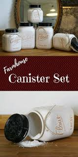 canisters 4 piece set sugar brown u0026 powdered flour storage