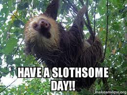 Make A Sloth Meme - have a slothsome day sloth birthday wish make a meme