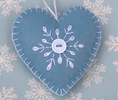 25 unique ornament ideas on felt hearts