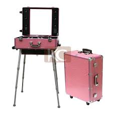 makeup case with lights and mirror led lighted portable makeup table with led lighting hair stylist