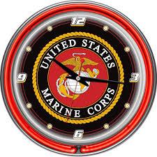 marines wall clocks