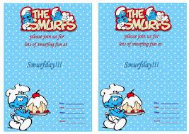 smurfs birthday invitations u2013 birthday printable