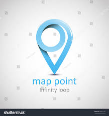 Map Point Logo Location Map Symbol Vector Design Stock Vector 368231759