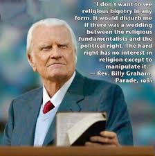 Billy Meme - billy graham warned against mixing politics and religion