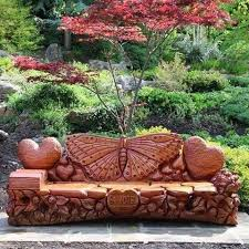 Butterfly Bench Amazing Butterfly Bench Design Log Furniture Pinterest Bench