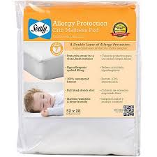 Sealy Crib Mattress Pad Sealy Allergy Protection Crib Mattress Pad Walmart