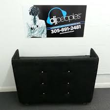 booth rental black tufted suede leather dj booth rental dj peoples