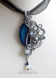 gothic jewelry necklace images Blue agate gothic pendant by ukapala jpg
