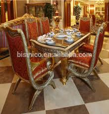 luxury french baroque style home dining room sets antique golden