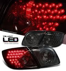 mazda 3 tail lights mazda 3 sedan 2004 2006 smoked led tail lights a101nlvi109