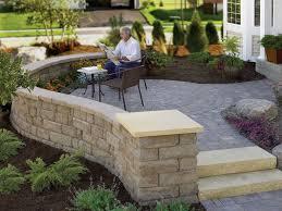 Simple Backyard Ideas Exterior Simple Backyard Patio With Bricks Stone Floor And