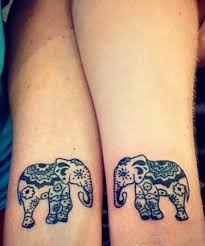 an elephant never forgets 21 matching couple tattoos we swear you