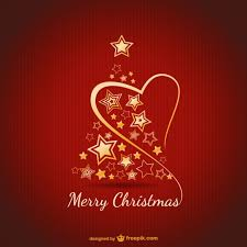 merry card with golden ornaments vector free