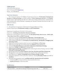 Manual Testing Experience Resume Sample by Software Test Engineer Resume Samples With Performance Test