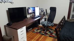 Build Your Own Gaming Desk by Ikea Countertop Desk 98 Inches Battlestations