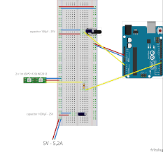 addressable led rgb strip ws2812 controlled by a potentiometer