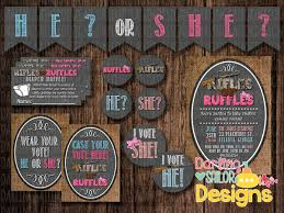 gender reveal party supplies rifles or ruffles gender reveal party package includes