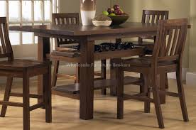 Coastal Round Dining Table Pueblosinfronterasus - Tropical dining room sets counter height