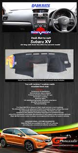 subaru crosstrek custom dash mat subaru xv impreza 02 2012 nov 2016 dm1259 in charcoal