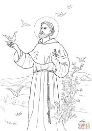 st francis of assisi coloring page free colouring pages 1155