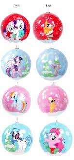 my pony 4 pack ornaments set brony t