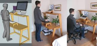 using a sit stand desk ingo schommer with sitting and standing desk plan 11 damescaucus com