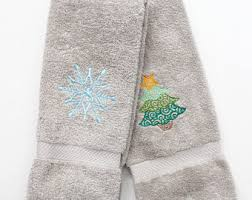 christmas towels christmas towel etsy