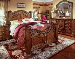 Small Master Bedroom King Size Bed Using Ashley Furniture King Size Beds Glamorous Bedroom Design