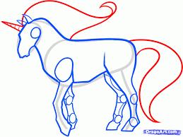 unicorns head drawings