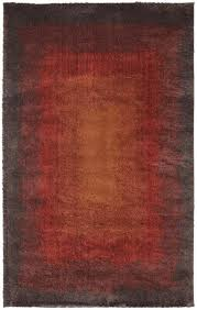Qvc Area Rugs Wonderful Hollywood Design 284 Abstract Wave Red Area Rug 5x7