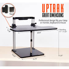 Adjustable Stand Up Computer Desk by The Uptrak Standing Desk Sit Stand Desk For Your Cube Stand