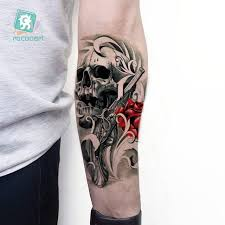 lc 811 big tattoo sticker cool halloween fake arm sleeve horror