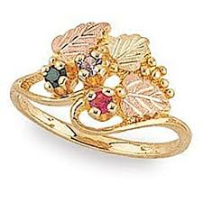 black gold mothers ring black gold s ring 2 stones g925 jewelry black