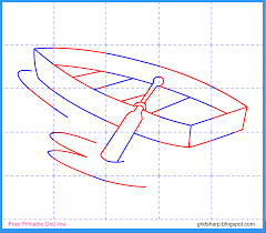 free grid line printable boat grid line drawing