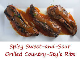 spicy sweet and sour grilled country style ribs life u0027s a