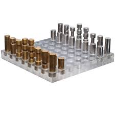 italian chess set in bronze nickel and acrylic at 1stdibs